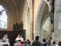 Bénédiction de la rénovation du bras du crucifix