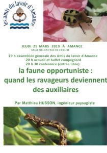 AG et conférence des « Amis du lavoir d'Amance » sur la faune opportuniste