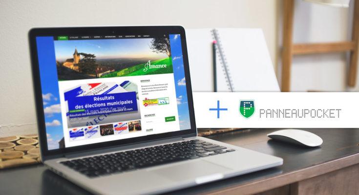 Site internet Amance.fr et PanneauPocket